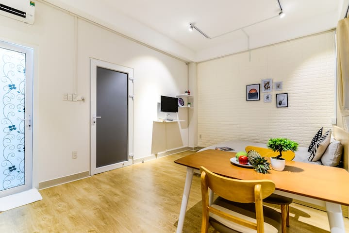 Your private dining table inside the flat