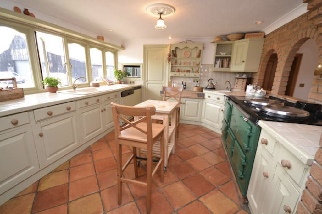 Fully equipped Kitchen with Aga and Electric oven