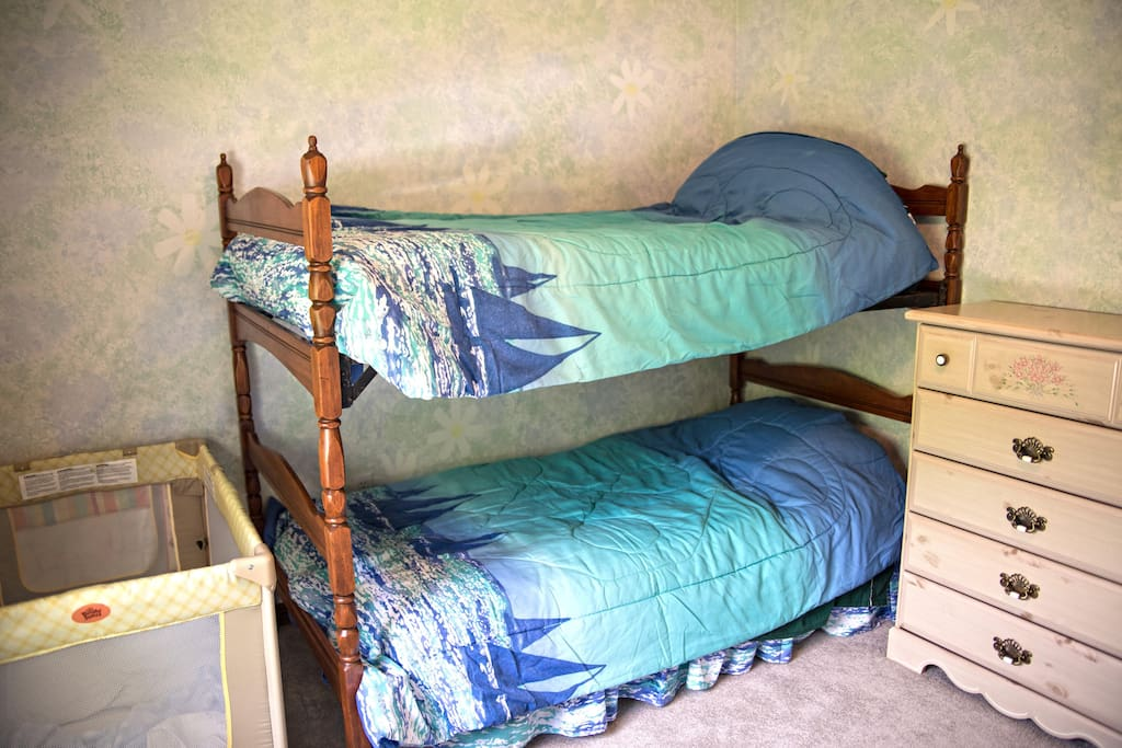 Bunks and Pack and Play