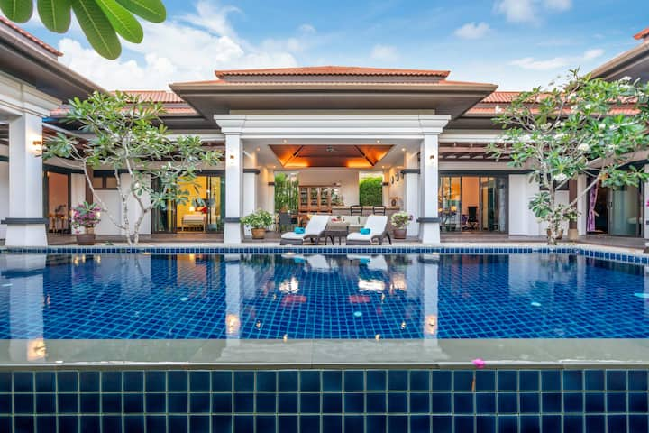 3-br. Luxury Private Pool Villa Frangipani BangTao