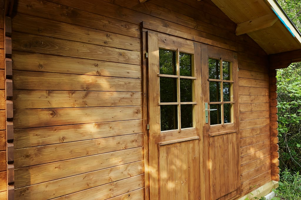 Our Secluded Cabin is athe perfect place for unplugging, recharging the batteries or working on your creative expressions.  The Cabin has plenty of natural sunlight, but also has curtains that can block out the light for a solid night's sleep!