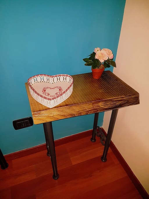 New entry!!!!! Hand-made bedside table.  wood and iron!