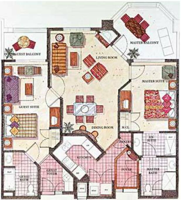 Studio plus 1 Bdrm Floorplan