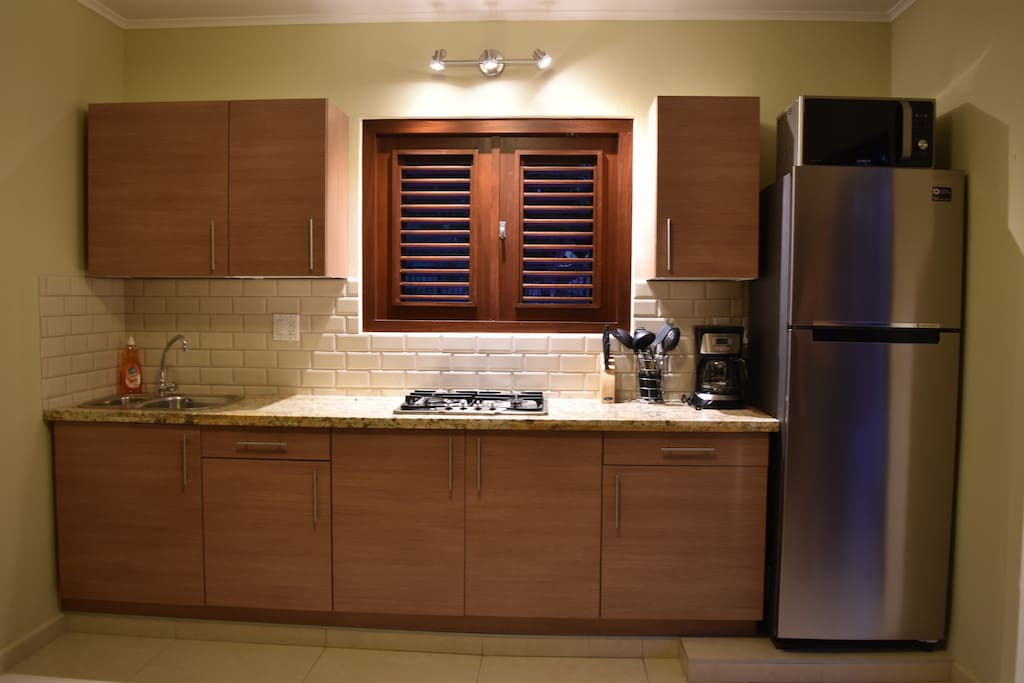 Well equipped kitchen with high-end appliances