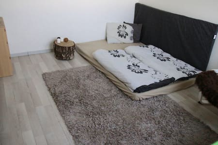 Queen private room with double bed near Prague - House