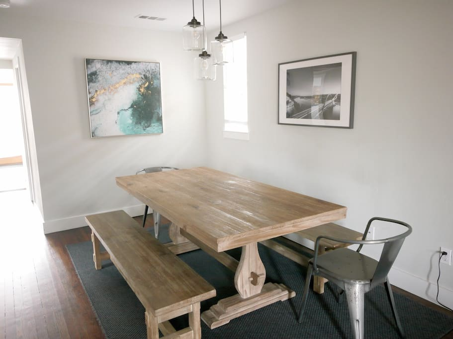 Big table for co-working! Spread out and enjoy the fast wifi.