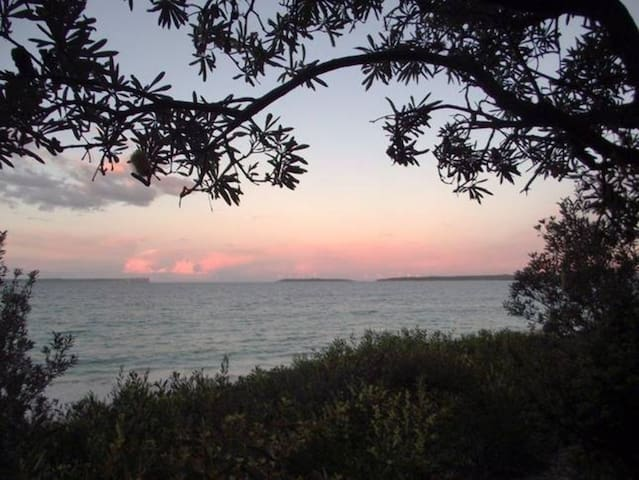 View of Jervis Bay from pathway