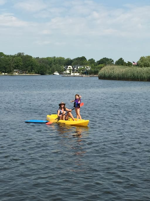 Paddle, kayak, swim or take your boat to the Great South Bay.