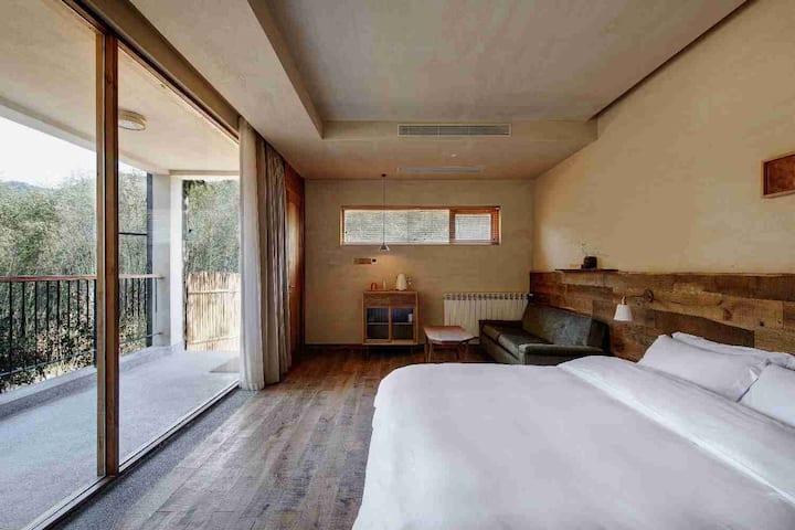 年轮公园/长廊阳台大床房1103
