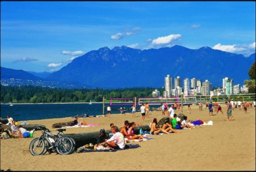 All Vancouver best beaches are a bike ride or 5-10 minute drive away from our home