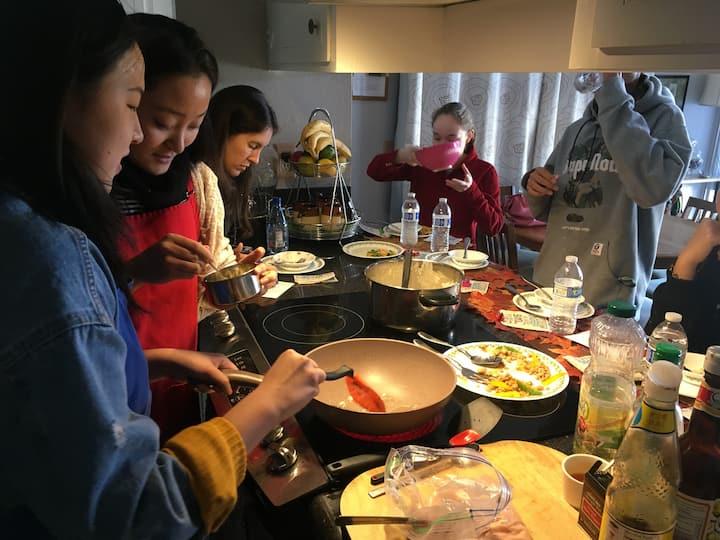 Family cooking fun