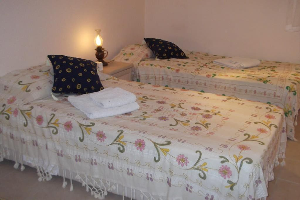 Air conditioned twin bedroom