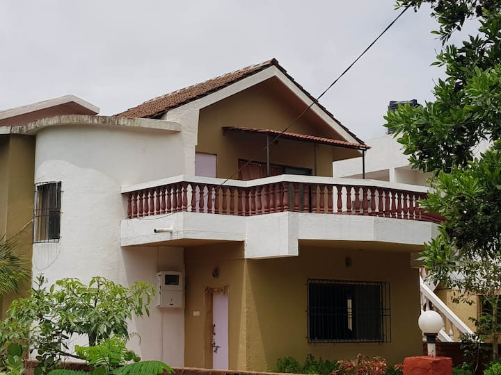 3 BHK villa with shared pool staring at mountains