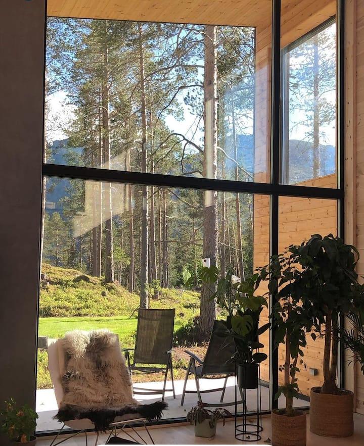 Superhost. Nyoppført villa i moderne arkitektur