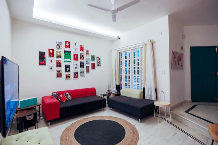 Quirky & Modern 3BD House in HSR Layout