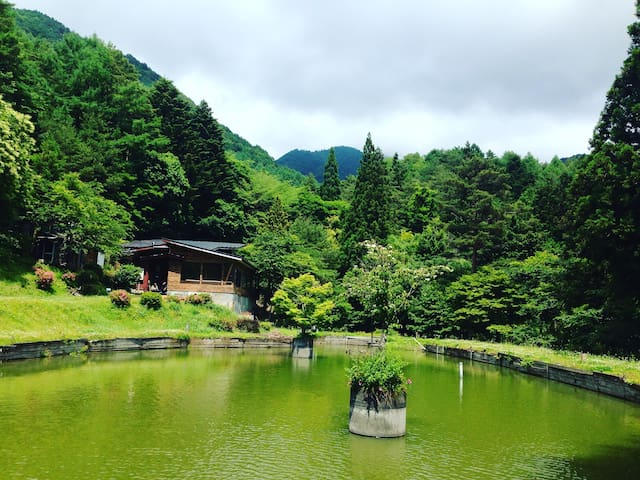Quiet retro-house with lake! - Peace&One Urashima - Fujiyoshida-shi