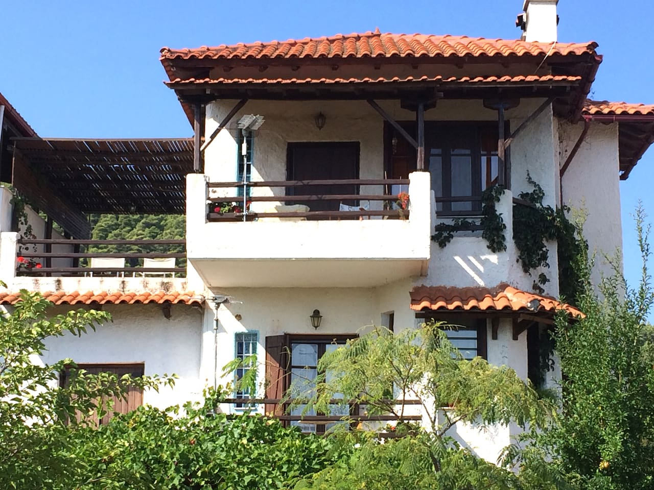 Front of Summer House in Vourvourou