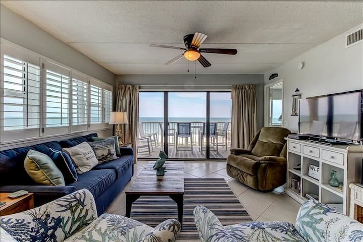 Amelia by the Sea #560:  Fifth floor oceanfront condo with unique pier on the Atlantic.  Close to restaurant.