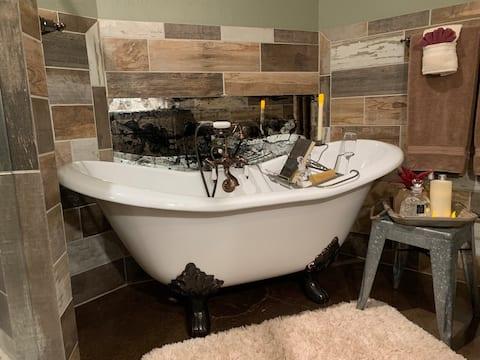 Rustic Romance Room en suite by Divine Order