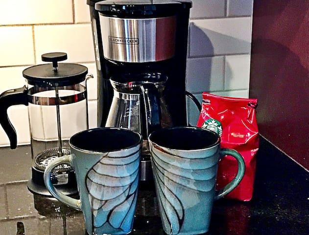 Coffee, treats and breakfast items provided