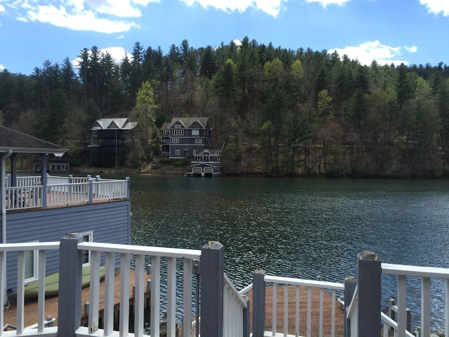 View of the lake from the deck.