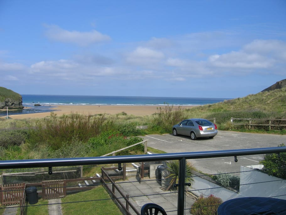 View of the sea from and beach from the property