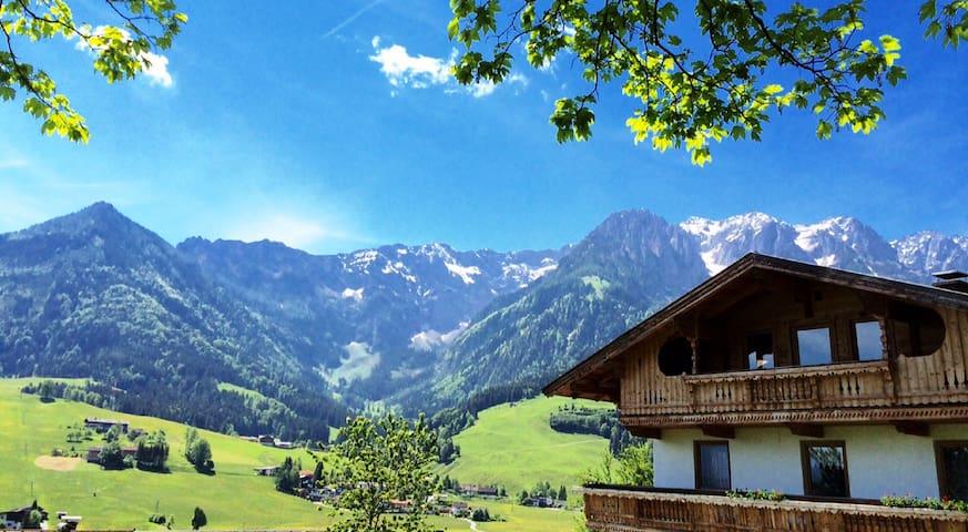Doppelzimmer - traumhafter Ausblick auf die Alpen - Durchholzen - Rumah liburan