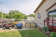 Bike and golf cart rentals are available on the island.