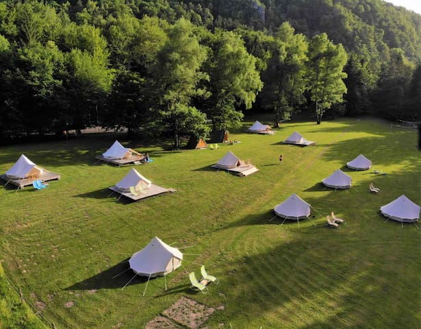 🍀NEW★Bell Tent★ BY THE RIVER | ECO River Camp