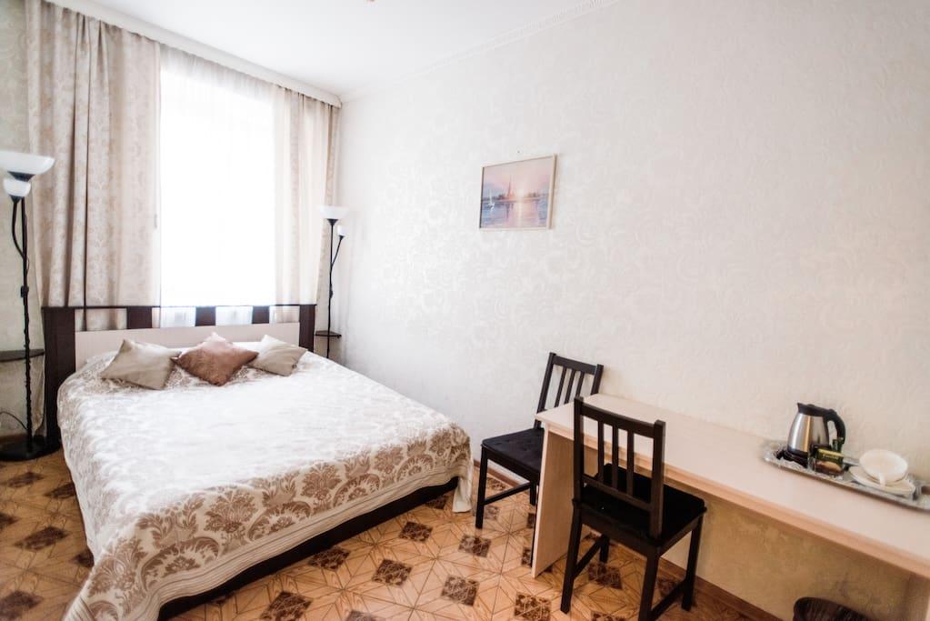 Спальня №1 с двуспальной кроватью / Bedroom №1 with a double bed