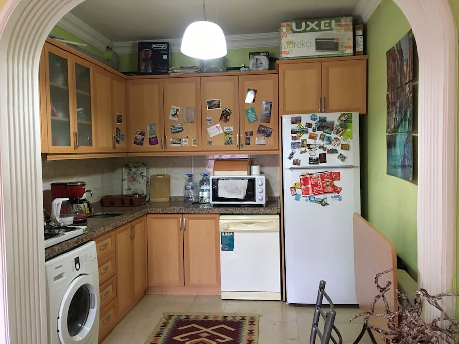 Shared kitchen. All equipments are available.