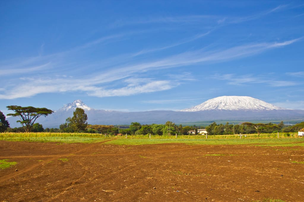 View of Kilimanjaro from the road.
