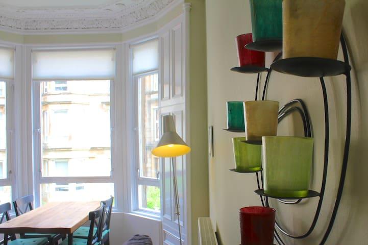 Luxurious & Spacious 2 Bedroom Flat - Glasgow - Apartamento