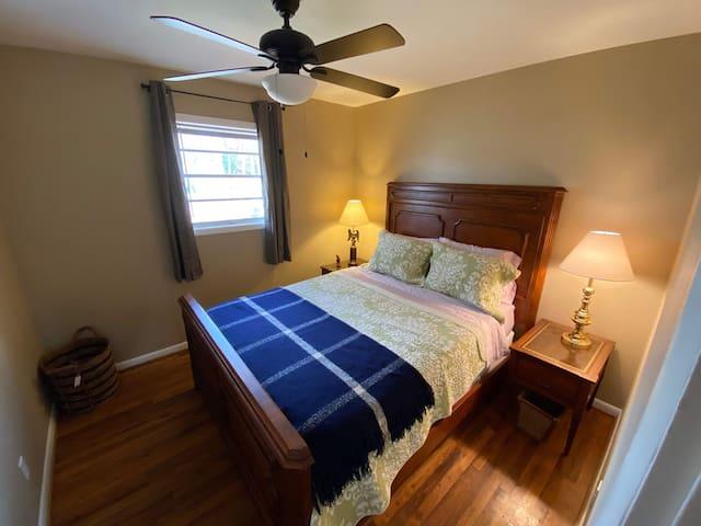 Bedroom three with queen