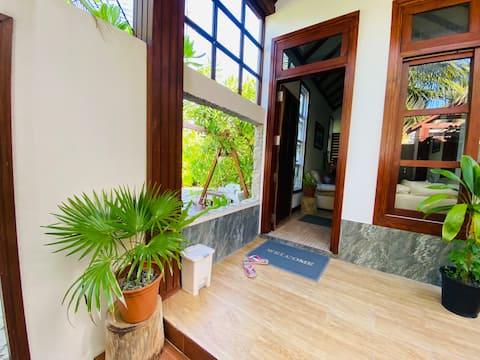 Private villa for rent in local island in Maldives