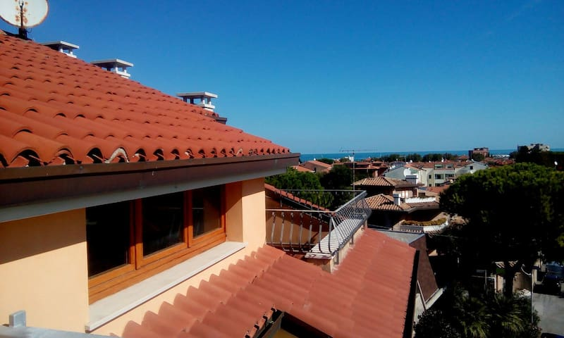 Cozy room in Fano with seaview terrace