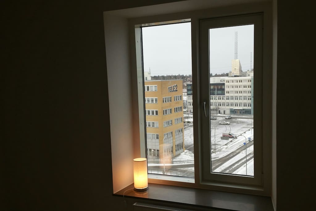 From bedroom, great view of Kista I.T district