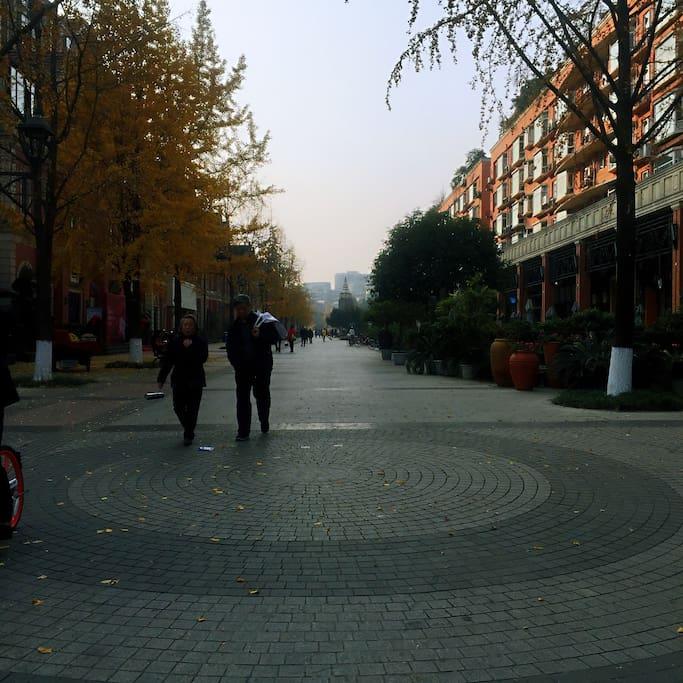 步行街全景