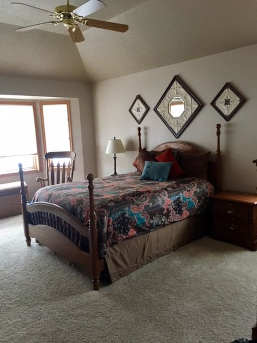 Master Bedroom with full bath/shower