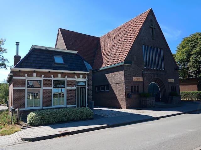 Kostershuisje in Oudebildtzijl + gratis fietsen
