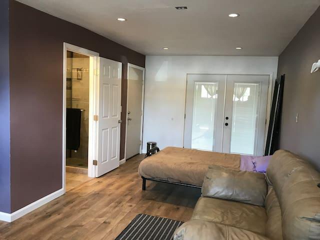 Private room, private bath, private entrance.