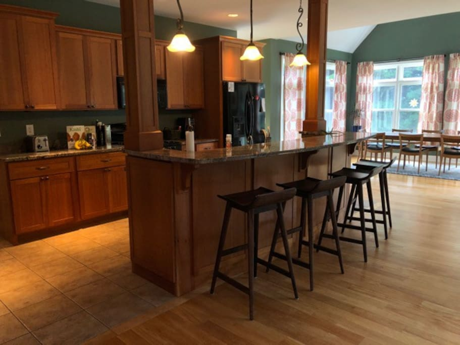 Kitchen Opens to Central Living Area