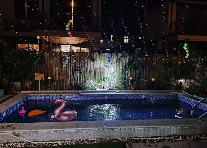 【悠家】美的鹭湖户外SPA泳池 花园 游戏机 聚会 北欧清新4居别墅,尽情畅玩 迎接假期