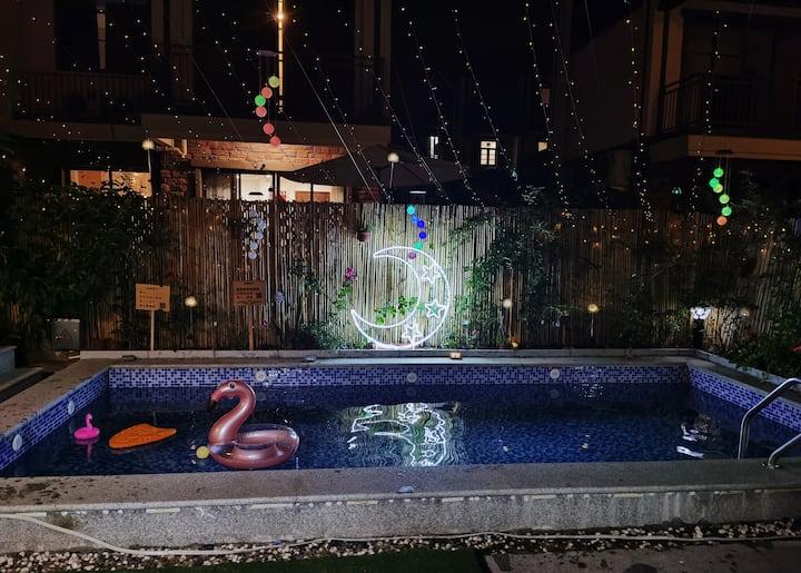 【悠家】美的鹭湖户外SPA泳池 KTV 游戏机 聚会 北欧清新4居别墅,尽情畅玩 迎接假期