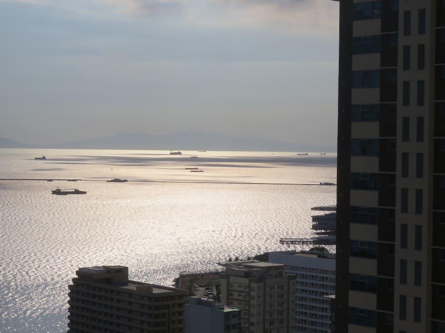 Manila Bay from Balcony