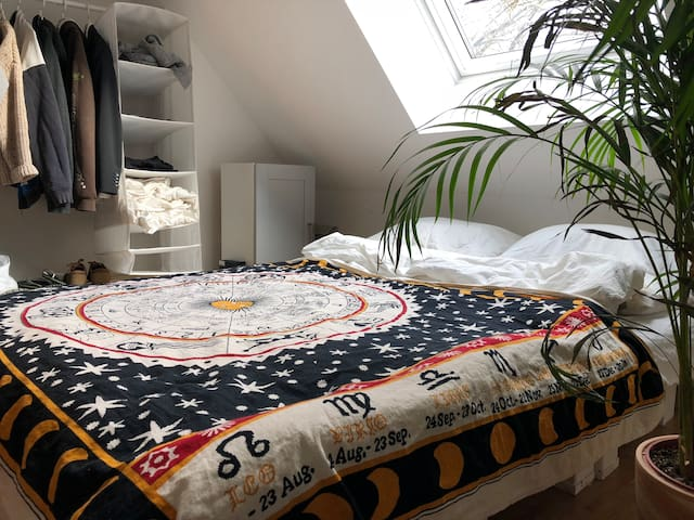 Tropical, comfy room with balcony near tradefair