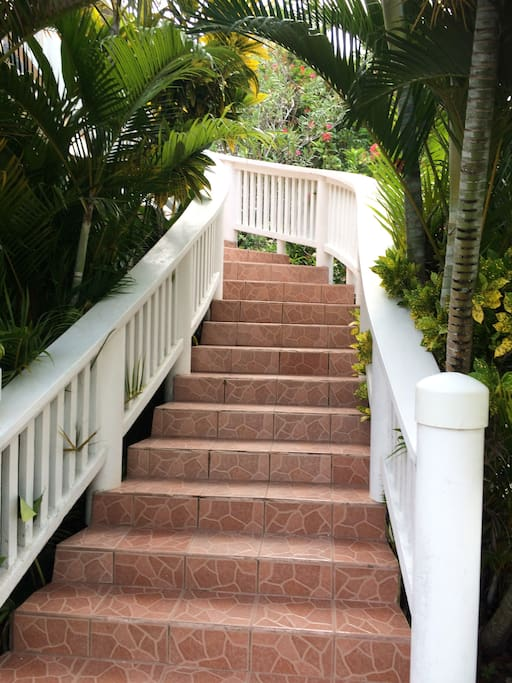 Stairs to condo #2