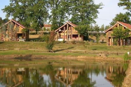 Maison bois, piscine, étang *1* - Meilhac - Huis