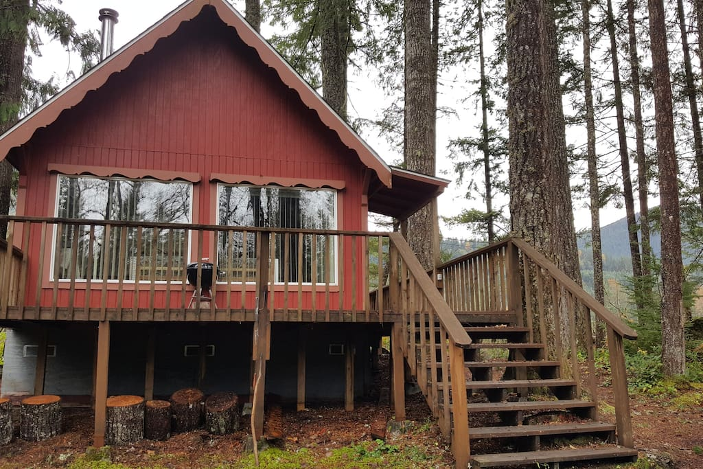 Charming cabin by mt rainier cabins for rent in ashford for Washington state cabins for rent