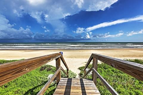 Surfside Beach House com vista para o mar, degraus para a praia!